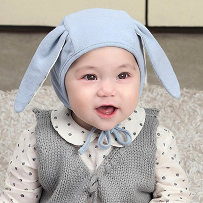 d2ac2a9c3 Baby Hat Lovely Infant Bunny Cap Solid Newborn Baby Winter Cute Comfortable  Cotton Long Rabbit Ears