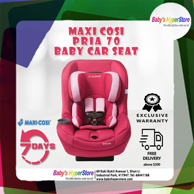 FREE DELIVERY Maxi Cosi Pria 70 BABY CAR SEAT 7 Days Easy