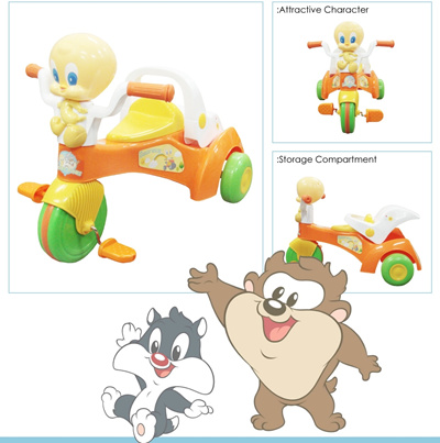 qoo10 baby looney tunes ride on bike 18 36 months baby maternity. Black Bedroom Furniture Sets. Home Design Ideas