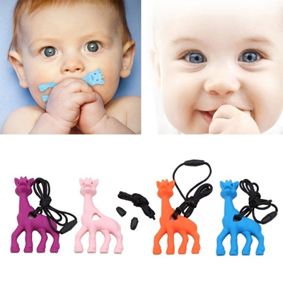 Baby Pacifiers Soft Silicone Teethers Pacifiers Cute Giraffe Shape Baby  Teethers Toy a3c8162df