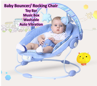 Baby Rocker Bouncer ? Kids Rocking Chair ? Portable Baby Music Bouncer ? Vibrate Chair  sc 1 st  Qoo10 & Qoo10 - Baby Rocking Chair : Baby u0026 Maternity