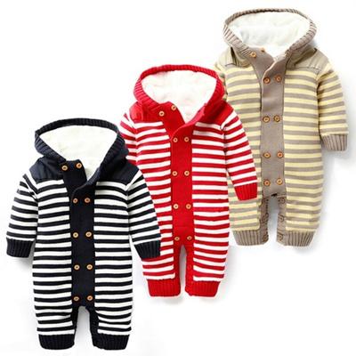 cf4ec6576 Qoo10 - Baby Romper Thick Fleece Warm Cardigan for Winter Kids ...
