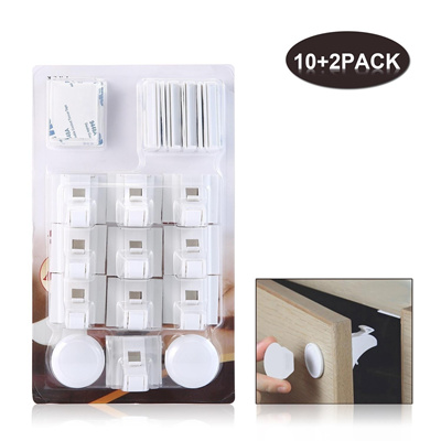 Qoo10 Baby Safety Magnetic Cabinet Locks Adhesive Lock Set 10