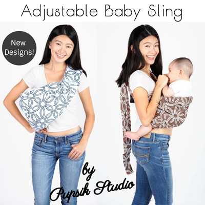 672815e2958 Qoo10 - BABY SLING ADJUSTABLE by PUPSIK STUDIO (Best for Newborn ...