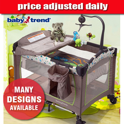 Baby Trend Nursery Center Playard Playpen Mamakids Bed Foldable Binet Child