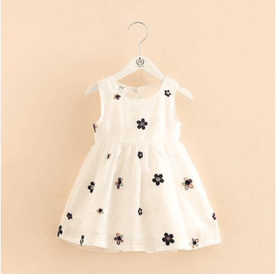 21970c5a77a8 Qoo10 - Baby vest dress 2018 summer new girl childrens childrens round neck  sl...   Smartphone   Tab.