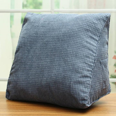 Back Cushion Triangle Corduroy Office Sofa Bed Home Lumbar Support Car Pillow