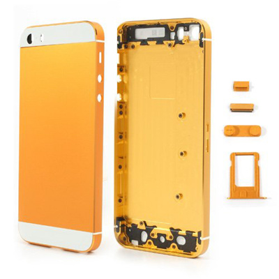 brand new 44188 66240 Back Panel Housing Case Cover w/ Buttons SIM Card Tray Compatible for  iPhone 5s (5S Metal Back Housing / Back Panel Cover / Housing Assembly)-  White & ...