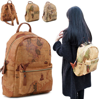 Qoo10 world map backpack bag wallet backpack for unisex map backpack casual bag gumiabroncs Images