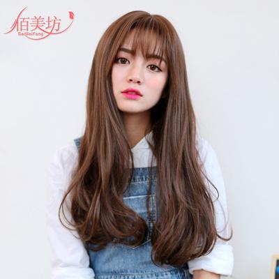 Qoo10 Bai Mei Fang South Korean Female Long Curly Hair
