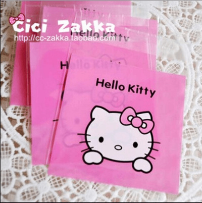 Baking Bags Cute Cartoon Kitty Bread Biscuit Bag Cow Candy Self Adhesive 100