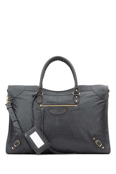 1fc1e4aaa4de balenciaga Grey leather Classic City XL travel bag 453215D94JG 1160