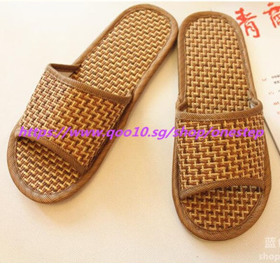 145dc358c9fa Qoo10 - Bamboo rattan grass slippers pure natural tropical Royal rattan  home s...   Furniture   Deco
