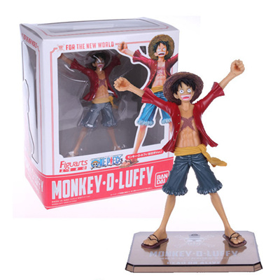 Bandaifiguarts One Piece Monkey D Luffy For The New World Action Figure