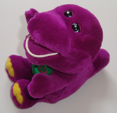BarneyBarney I Love You Barney Singing Plush Doll