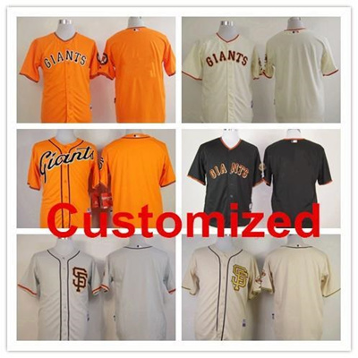 new style e3787 658f7 baseball Jerseys San Francisco Giants customized jersey white black stripe  orange sport Jerseys men&