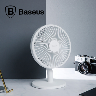 BaseusBaseus Ocean Air Circulation Fan USB Rechargeable 4 Wind Speeds  Automatic Frequency Office Home Fan