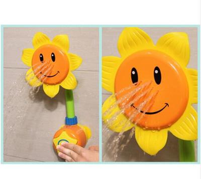 bath sunflower Bathroom bath toys Sunflower Shower Faucet toy in the bathtub Children Pool
