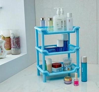 Bathroom Kitchen Corner Shelf Storage Rack Cabinet Organiser Caddy