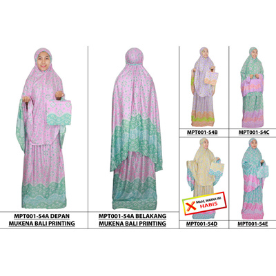 New Collection Mukena Bali   Mukena Batik   Mukena Adult Material Rayon  (MPT001-54 b9d9195677