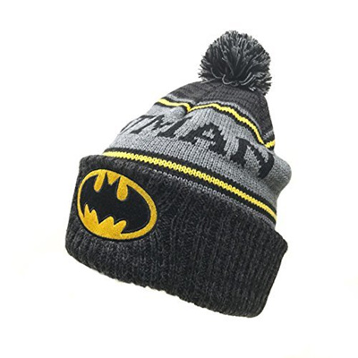 779558461be Qoo10 - (Batman) DC Comics Batman Logo Cuffed Pom Knit Beanie Hat-    Fashion Accessories