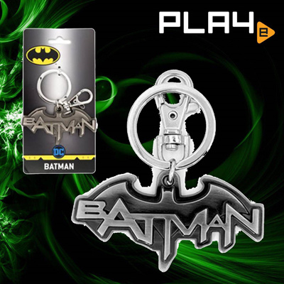 Batman Logo Pewter Key Chain