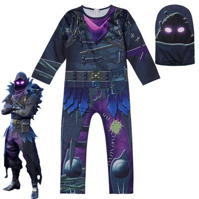 Battle Royale chilren Skull Trooper Skin Cosplay Boys Clothes Christmas  Costumes Ninja Party Funny C
