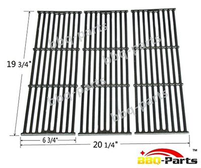 bbq-parts PCE051 Universal Gas Grill Grate Cast Iron Cooking Grid  Replacement for Chargriller gas gr
