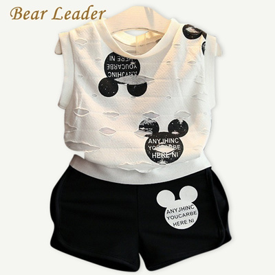 5d2b68f3e9e24b Qoo10 - Bear Leader Girls Clothes 2018 Summer Style Boys Clothing Sets  Cartoon...   Kids Fashion
