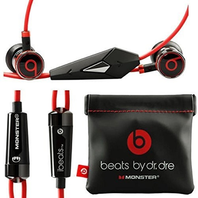 (Beats) Monster Beats by Dr Dre iBeats Headphones with ControlTalk (Black)  (Supplied with no reta