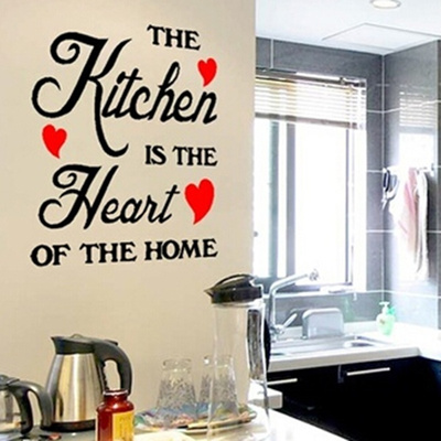 Beautiful Removable Diy Decals Kitchen Wall Sticker Wallpaper With Lettering The Is Hea