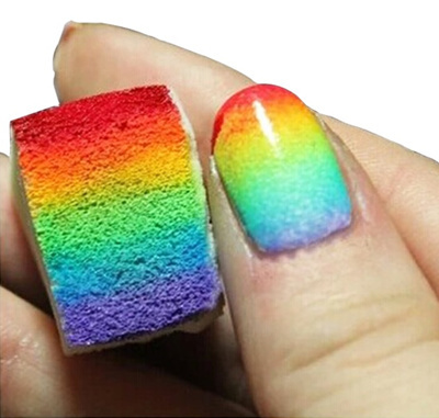 Qoo10 Nail Art Sponges For Gradient Nail Art Graduation Nails