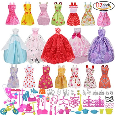 b52f159d955 Qoo10 - (Beautyer) Doll Clothes Party Gown Outfits And Accessories for  Barbie-   Toys
