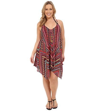 43745217bd Qoo10 - (BECCA by Rebecca Virtue) Plus Size Becca ETC Caravan Dress  Cover-Up (... : Sportswear