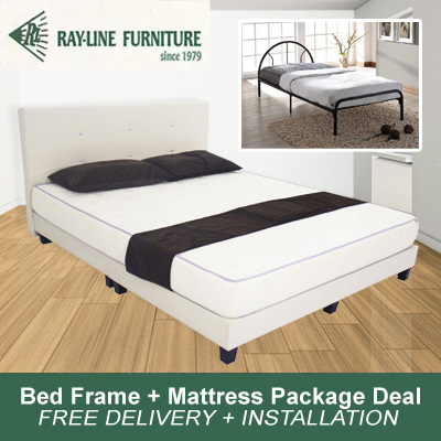 Qoo10 bed frame mattress package deal free delivery for Bed frame and mattress deals