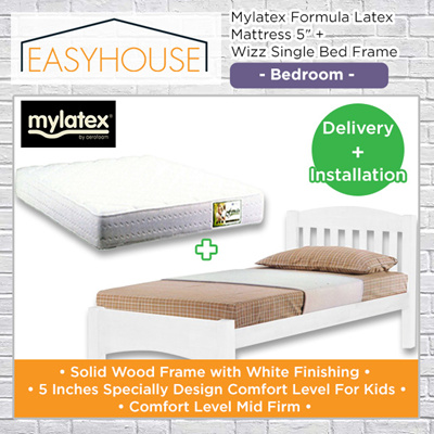 Qoo10 Bed Set Mylatex Formula Latex Mattress 5 Wizz Single