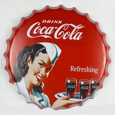 Qoo10 - Beer Bottle Cap Coca cola Refreshing Metal Painting Wall Art ...