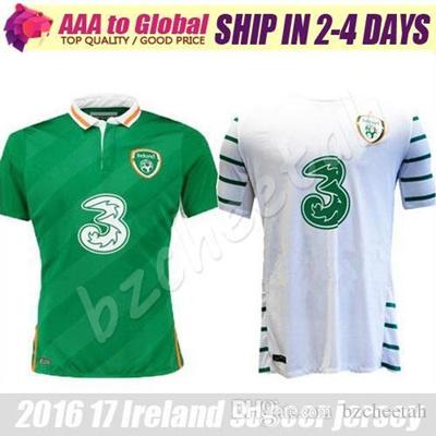 d9a32ea4683 Qoo10 - Benwon 16 17 Ireland soccer jersey Ireland away white shirt home  Irela...   Sports Equipment