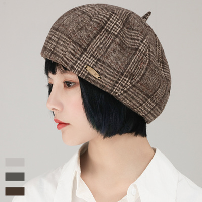 ce6fb1ed2be6f Qoo10 - Beret / Japanese net red plaid wool beret female autumn and winter  woo... : Women's Clothing