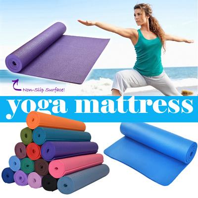 Qoo10 matras yoga Peralatan Olahraga