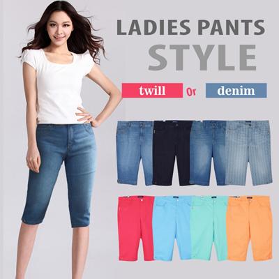Qoo10 - BEST SELLER Branded Women 3 4 Denim Pants - 7 8 Twill Pants ... 57fdb45625