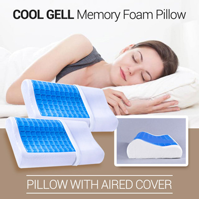 Qoo10 -  BEST SELLER  Cool Gell Memory Foam Pillow  e3ebde1478