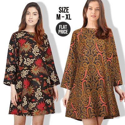 1ddc89f0ea2 Qoo10 - Best Seller Premium Midi Dress Tunik Batik Size M-XL   Women Batik  Dre...   Women s Clothing