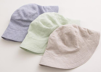 Qoo10 - Best selling kids striped linen sun hat   Kids Fashion 187f94ec96f
