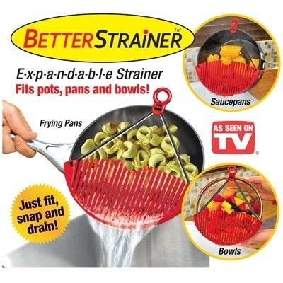 Better Strainer Membantu Meniriskan Makanan Tanpa Tumpah