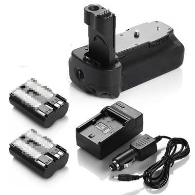 BG-E2N Battery Grip for Canon 50D 40D 30D 20D + 2x BP-511A Batteries +  Charger