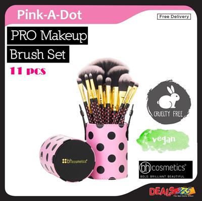 fb0352bb1aa9 BH Cosmetics Pink-A-Dot - 11 Piece Brush Set