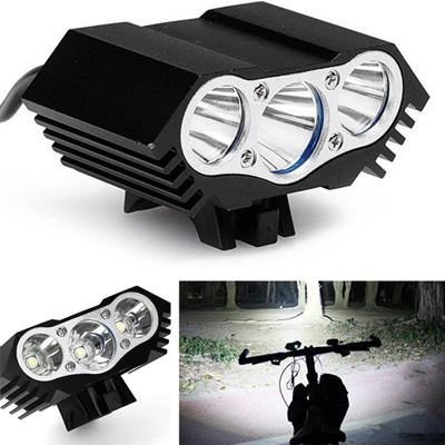 10000LM 3* T6 LED Bicycle Lamp Bike Light Headlight Cycling 4 Modes Torch Set