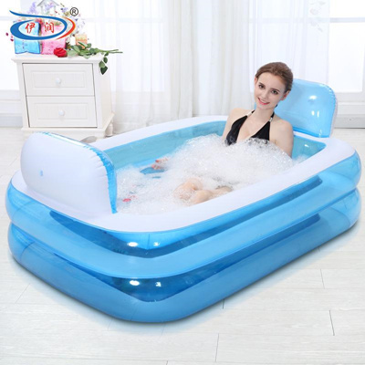 qoo10 big inflatable bath tub for baby and adult baby maternity. Black Bedroom Furniture Sets. Home Design Ideas