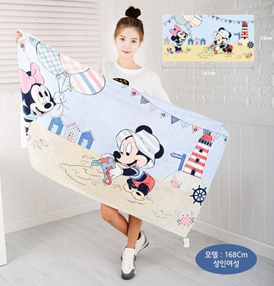 Qoo10 Big Size Disney Baby Beach Towel Bath Towel Quilt Blanket